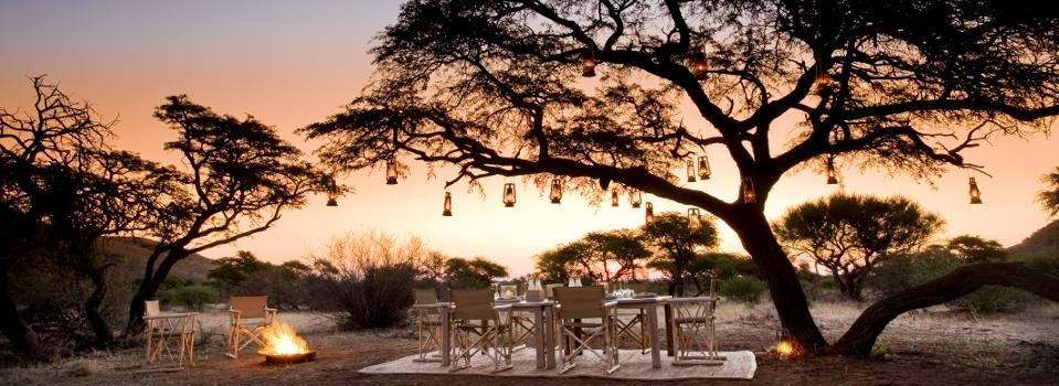 Dining in the Kalahari desert